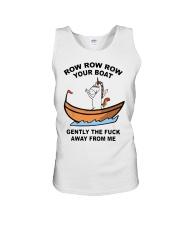 Unicorn Row Row Row Your Boat Gently Fuck Shirt Unisex Tank thumbnail