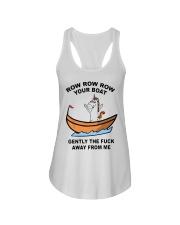 Unicorn Row Row Row Your Boat Gently Fuck Shirt Ladies Flowy Tank thumbnail