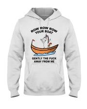 Unicorn Row Row Row Your Boat Gently Fuck Shirt Hooded Sweatshirt thumbnail