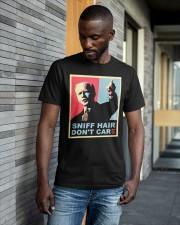 Anti Joe Biden Sniff Hair Dont Care Shirt Classic T-Shirt apparel-classic-tshirt-lifestyle-front-41-b