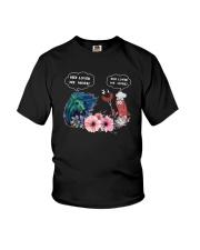 Horses And Sausage She Loves Me More Shirt Youth T-Shirt thumbnail