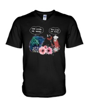 Horses And Sausage She Loves Me More Shirt V-Neck T-Shirt thumbnail