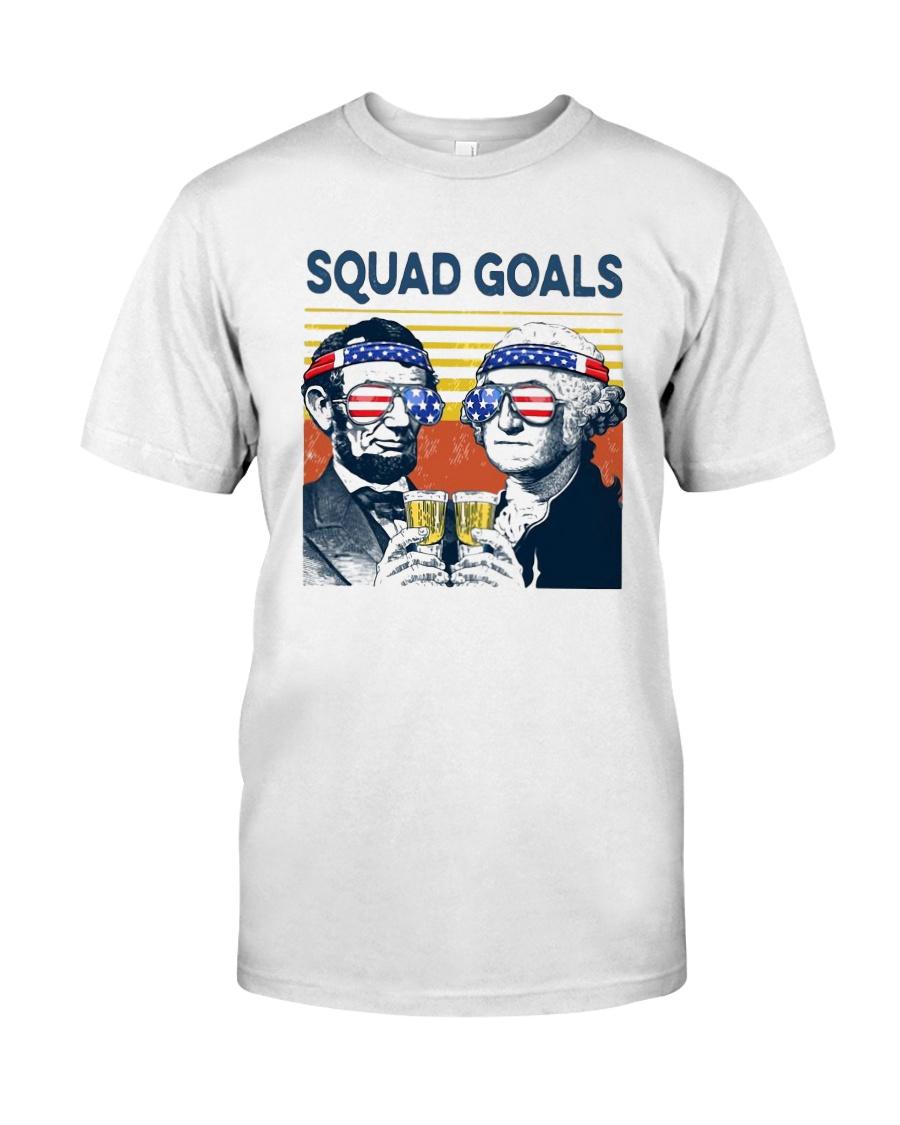 Vintage American Flag Squad Goals Shirt Classic T-Shirt