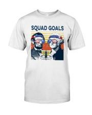 Vintage American Flag Squad Goals Shirt Classic T-Shirt front