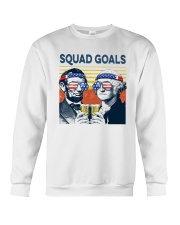 Vintage American Flag Squad Goals Shirt Crewneck Sweatshirt thumbnail