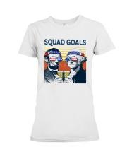 Vintage American Flag Squad Goals Shirt Premium Fit Ladies Tee thumbnail