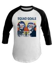 Vintage American Flag Squad Goals Shirt Baseball Tee thumbnail