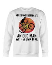 Vintage Never Underestimate An Old Man Shirt Crewneck Sweatshirt thumbnail