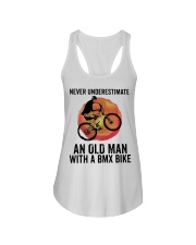 Vintage Never Underestimate An Old Man Shirt Ladies Flowy Tank thumbnail