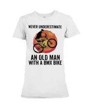 Vintage Never Underestimate An Old Man Shirt Premium Fit Ladies Tee thumbnail