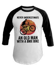Vintage Never Underestimate An Old Man Shirt Baseball Tee thumbnail