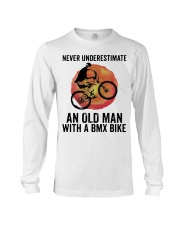 Vintage Never Underestimate An Old Man Shirt Long Sleeve Tee thumbnail
