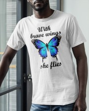 Butterfly With Brave Wings She Flies Shirt Classic T-Shirt apparel-classic-tshirt-lifestyle-front-39