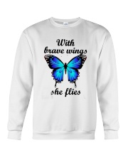 Butterfly With Brave Wings She Flies Shirt Crewneck Sweatshirt thumbnail