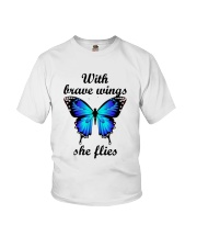 Butterfly With Brave Wings She Flies Shirt Youth T-Shirt thumbnail