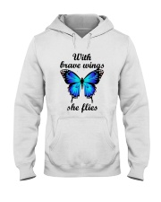 Butterfly With Brave Wings She Flies Shirt Hooded Sweatshirt thumbnail