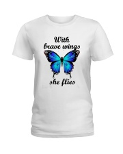 Butterfly With Brave Wings She Flies Shirt Ladies T-Shirt thumbnail