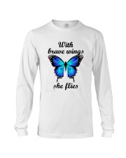 Butterfly With Brave Wings She Flies Shirt Long Sleeve Tee thumbnail