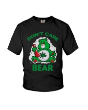 Cannabis Don't Care Bear Shirt Youth T-Shirt thumbnail
