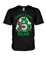Cannabis Don't Care Bear Shirt V-Neck T-Shirt tile