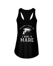 Horse You Dont Scare Me I Ride A Mare Shirt Ladies Flowy Tank thumbnail