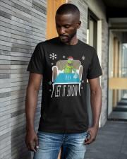 Christmas Santa Frog Let It Snow Shirt Classic T-Shirt apparel-classic-tshirt-lifestyle-front-41-b