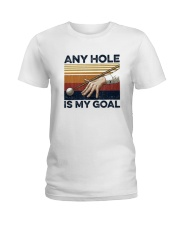 Vintage Any Hole Is My Goal Shirt Ladies T-Shirt thumbnail