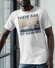 Vintage These Are My Weapons Shirt Classic T-Shirt apparel-classic-tshirt-lifestyle-front-39