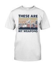 Vintage These Are My Weapons Shirt Classic T-Shirt front