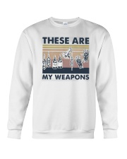 Vintage These Are My Weapons Shirt Crewneck Sweatshirt thumbnail