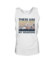Vintage These Are My Weapons Shirt Unisex Tank thumbnail