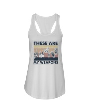 Vintage These Are My Weapons Shirt Ladies Flowy Tank thumbnail