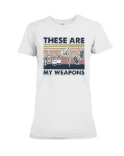 Vintage These Are My Weapons Shirt Premium Fit Ladies Tee thumbnail