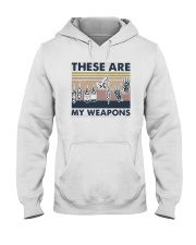 Vintage These Are My Weapons Shirt Hooded Sweatshirt thumbnail