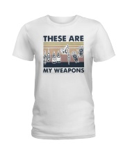 Vintage These Are My Weapons Shirt Ladies T-Shirt thumbnail