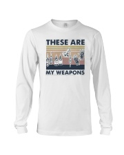 Vintage These Are My Weapons Shirt Long Sleeve Tee thumbnail