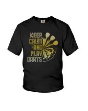 Keep Calm And Play Darts Shirt Youth T-Shirt thumbnail