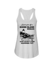 Never Piss Off A Rhode Island Woman Shirt Ladies Flowy Tank thumbnail