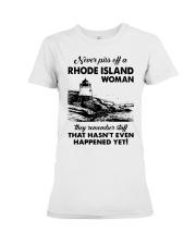 Never Piss Off A Rhode Island Woman Shirt Premium Fit Ladies Tee thumbnail