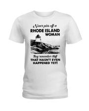 Never Piss Off A Rhode Island Woman Shirt Ladies T-Shirt thumbnail