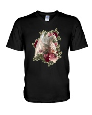 Rose White Dragon Shirt V-Neck T-Shirt thumbnail