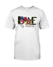 American Flag Love My Veteran Shirt Classic T-Shirt front