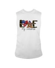 American Flag Love My Veteran Shirt Sleeveless Tee thumbnail