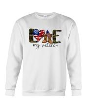 American Flag Love My Veteran Shirt Crewneck Sweatshirt thumbnail