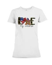 American Flag Love My Veteran Shirt Premium Fit Ladies Tee thumbnail