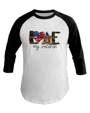 American Flag Love My Veteran Shirt Baseball Tee thumbnail