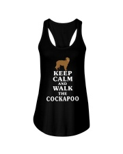 Keep Calm And Walk The Cockapoo Shirt Ladies Flowy Tank thumbnail