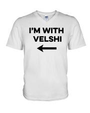 I'm With Velshi Shirt V-Neck T-Shirt thumbnail