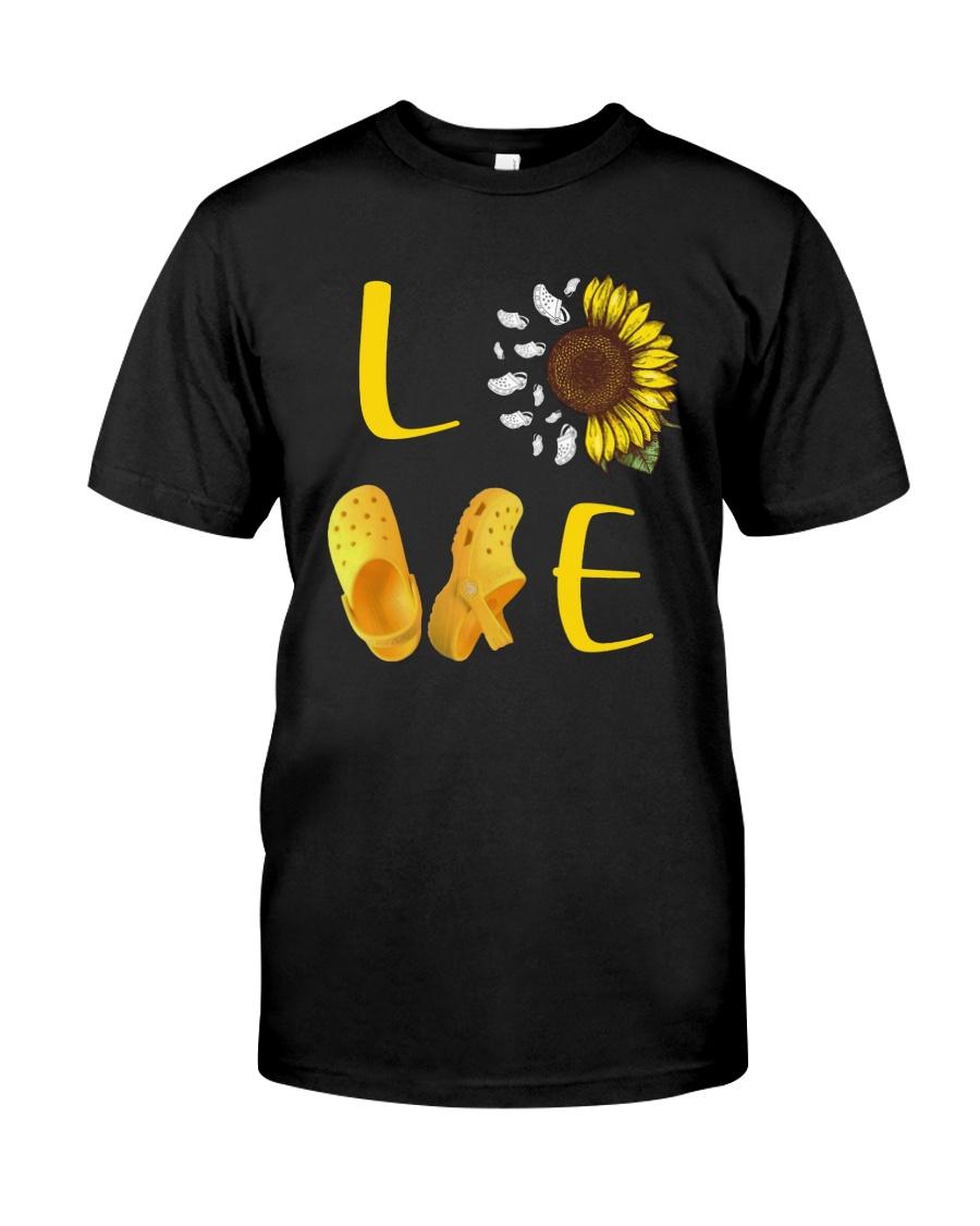 Sunflower Crocs Love Shirt Premium Fit Mens Tee