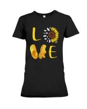 Sunflower Crocs Love Shirt Premium Fit Ladies Tee thumbnail